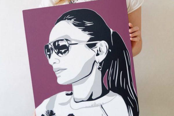 Заказать портрет Поп Арт в Туле, Москве